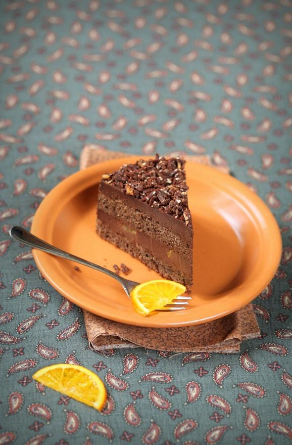 Веганский шоколадно-апельсиновый торт, изображение №2