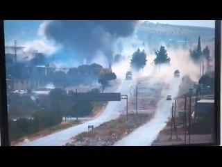 Сирия М4 подрыв СВУ на пути следования 🇷🇺/🇹🇷 колонны