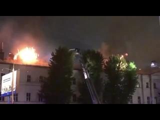 Пожар в общежитии Военного университета Минобороны...
