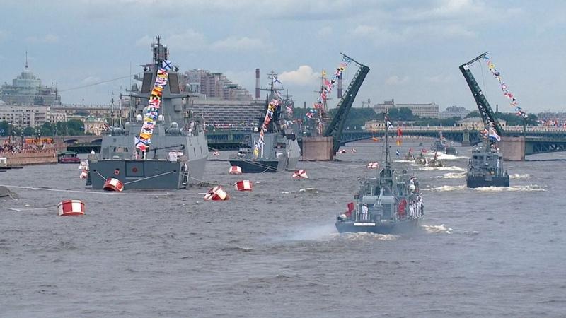 Главный военно морской парад 25 07 2021