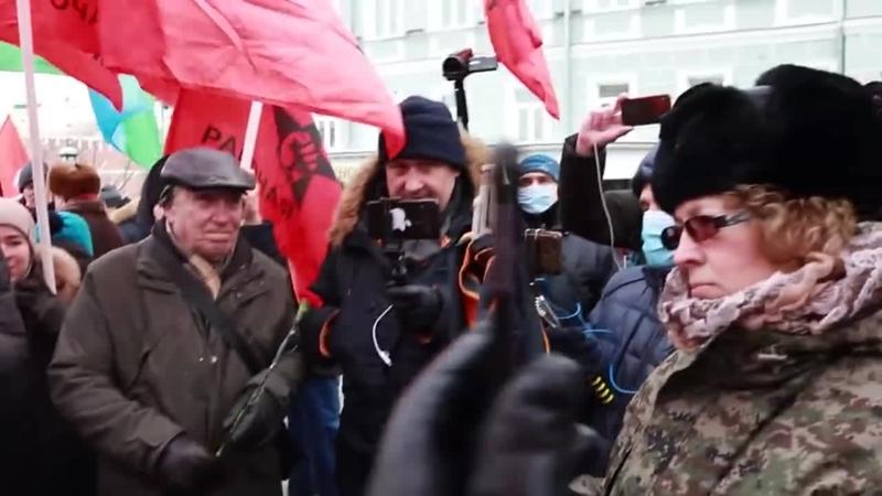Главный враг сидит в Кремле НОД и путинская массовка заявились на акцию кпрф ррп pyc лф