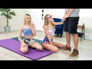 Kyler Quinn & Lily Larimar - This Is Not A Training Bra [2021.01.22, All Sex, Threesome, FFM, Blonde, Blowjob, Facial]