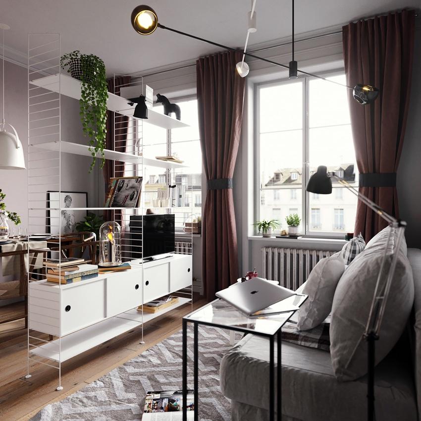 Проект маленькой квартиры-студии 22,5 м.