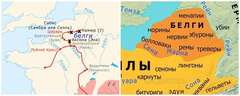 Слева общий план кампании, справа расклад по племенам.