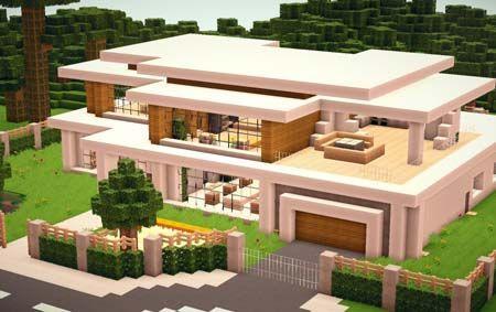 modern house minecraft - HD1600×857