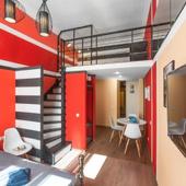№4 Двухуровневые апартаменты комфорт Red