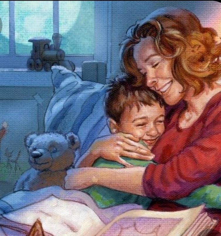 Перед сном мы с дочкой болтаем. С сыном такие разговоры назывались «шепотуньки»...