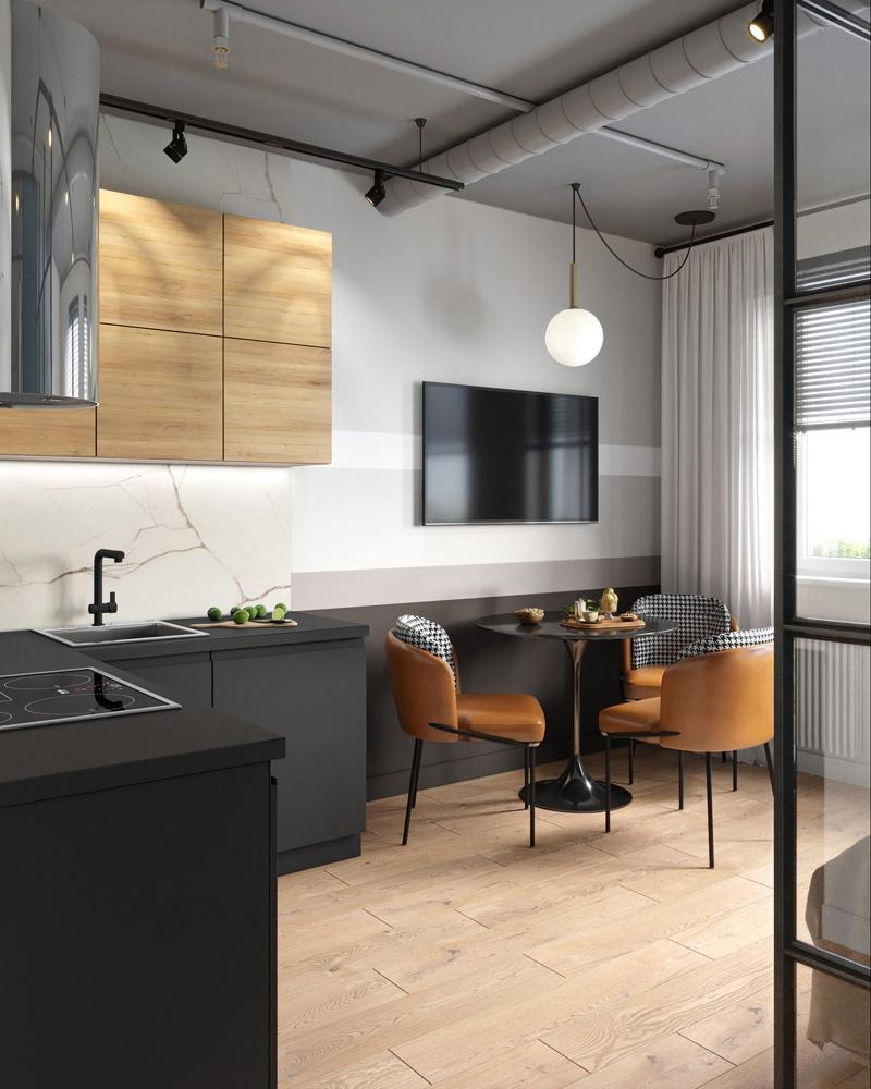 Концепт студийной квартиры почти 25 кв.