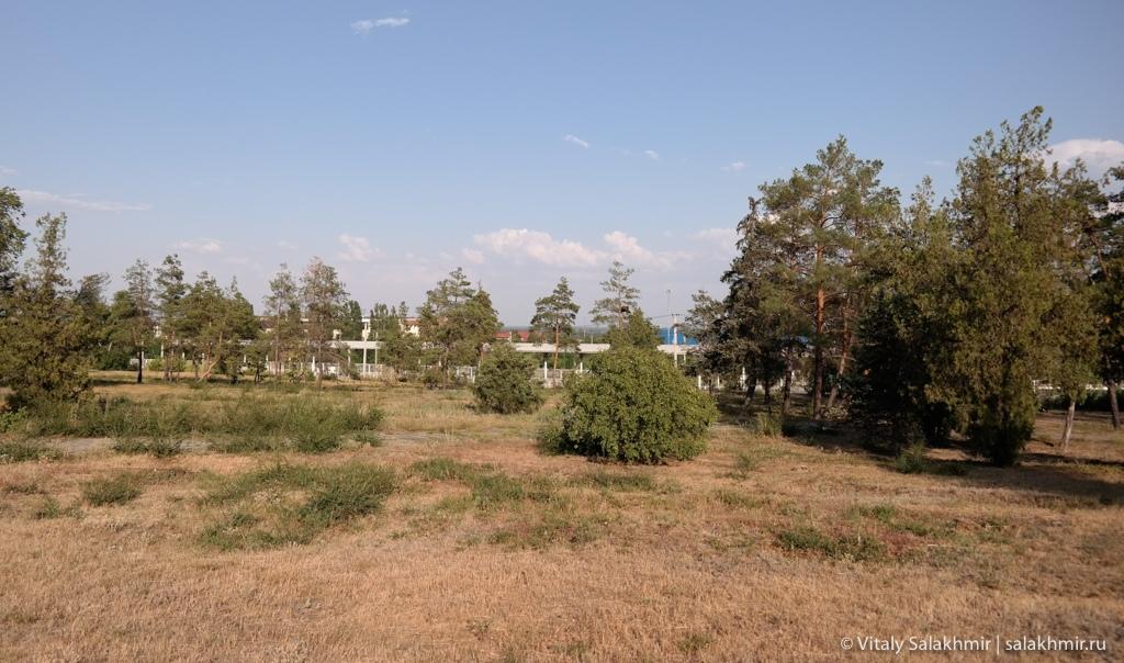 Парк около Мамаева кургана в Волгограде