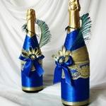 Декор бутылки шампанского лентами — МК