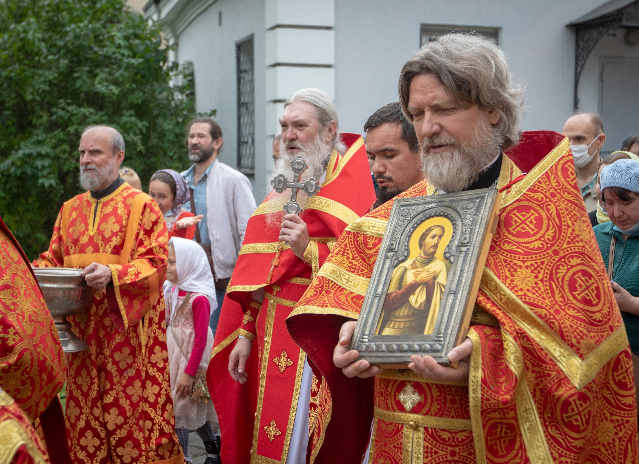 Престольный праздник в храме святых бессребреников Космы и Дамиана в Космодемьянском