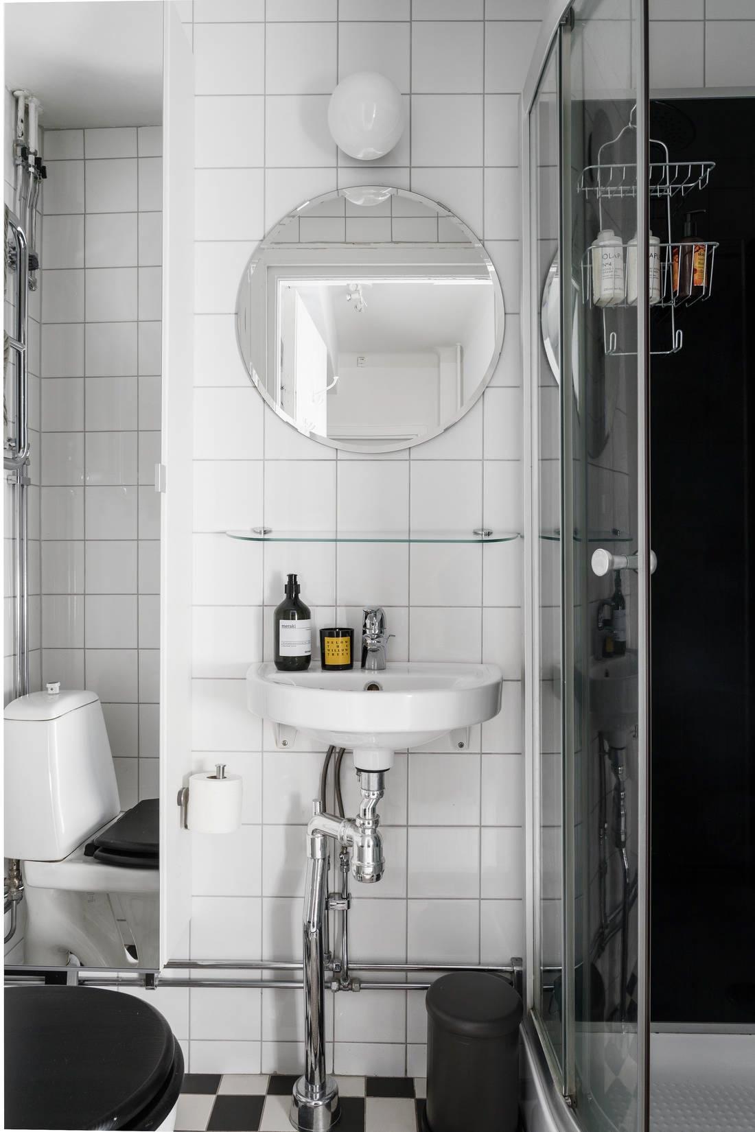 Скандинавский интерьер квартиры 33 кв.
