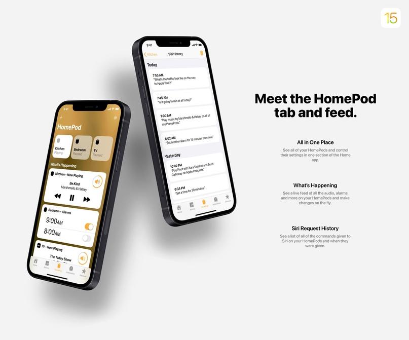 50 нововведений iOS 15 показали в новом концепте, изображение №10
