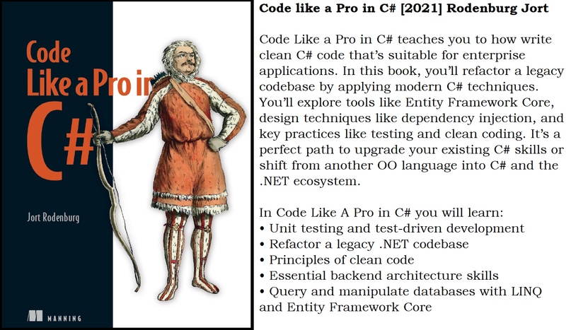 📘 Code like a Pro in C# [2021] Rodenburg Jort