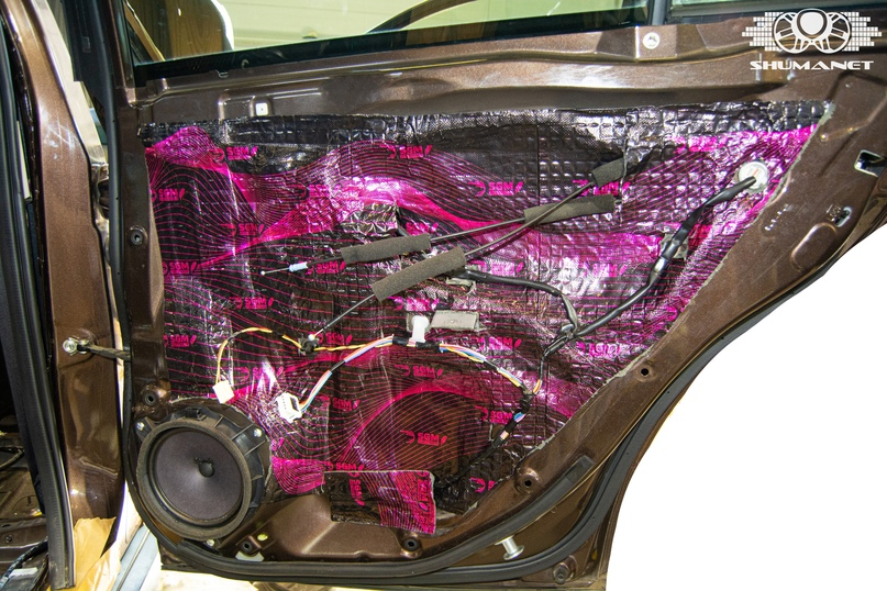 Комплексная шумоизоляция салона Subaru Outback., изображение №14