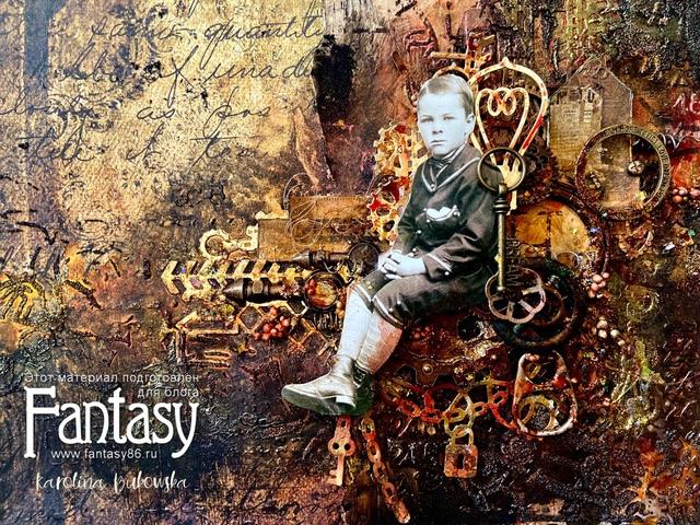 💖ВДОХНОВЕНИЕ: Стимпанк страничка от дизайнера Fantasy Karolina Bukowska