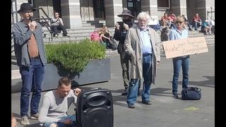 Brandrede von Hans-Joachim Maaz - Stiller Protest, Halle (Saale), 16. Mai 2020