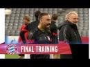 Ribéry Co bestens gelaunt beim Abschlusstraining vor Rom