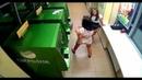 Girl vs ATM Девушка долбит банкомат ! Прикол Бокс с банкоматом сбербанка