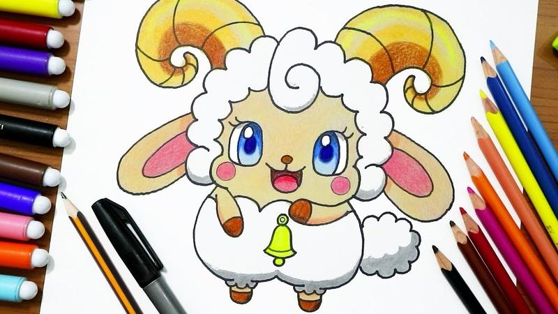 رسم خروف العيد مثل انمي كوكوتاما Cocotama