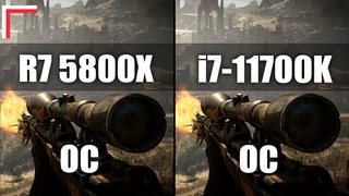 AMD Ryzen 7 5800X OC vs Intel Core i7-11700K OC — Test in 8 Games! [1080p, 1440p]