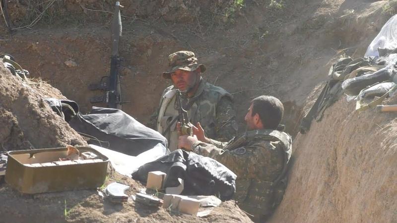 Бои в Карабахе съемки из окопов блогера КУ
