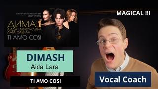 """Vocal Coach Reacts to Dimash """"Ti Amo Cosi"""" ft. Aida Garifullina, Lara Fabian"""