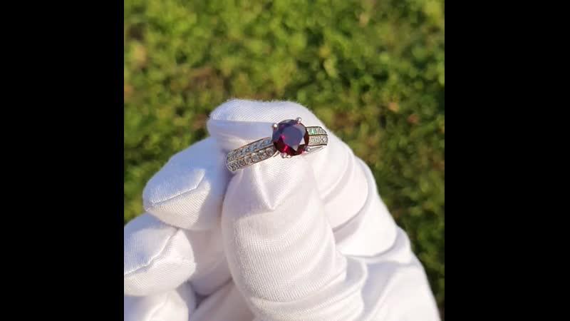 Кольцо с красным бриллиантом 1 05 ct