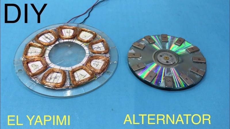 FLANŞ JENERATÖR YAPIMI TÜRBİN JENERATÖRÜ Magnet Axial Flux Alternator DIY ALTERNATOR Magnet