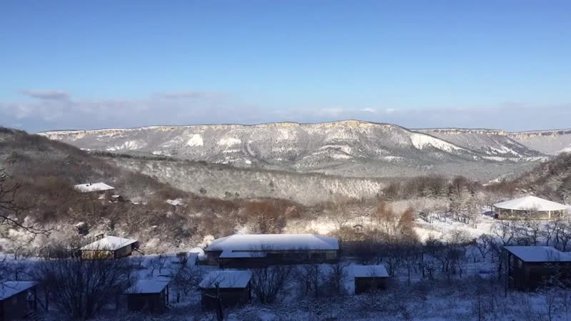 Зимний рассвет в EcoCamp Крым