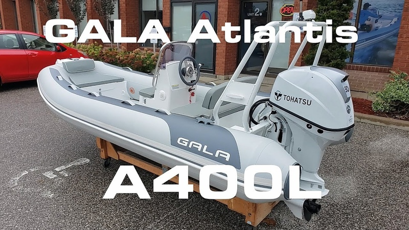 GALA Atlantis A400L with 50HP 13' rigid inflatable boat Features review