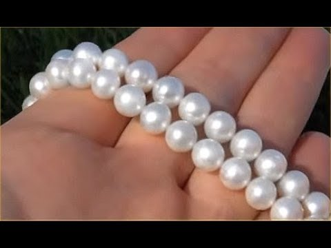 GIA Certified Mikimoto Japanese Saltwater Akoya Pearl Necklace - Gold Clasp - Up For Auction