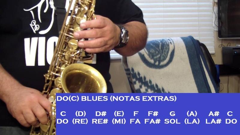 LAS 12 ESCALAS DE BLUES TUTORIALES PARA EL SAX ALTO SANTIAGO PACHECO