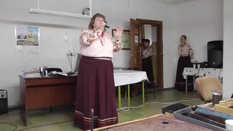 Начало концерта посвящённого Дню Белой трости Лужайского коллектива Гуляночка на предприятии Шахунское УПП 13 11 2018