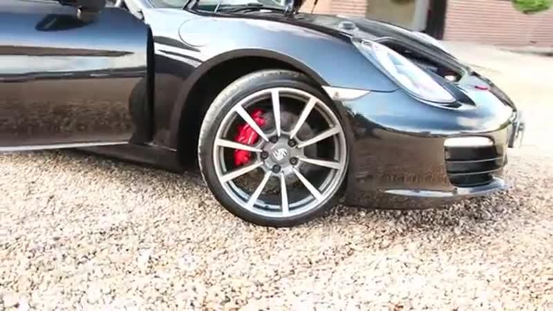 Porsche Boxster S 981 3 4 Manual in Basalt Black