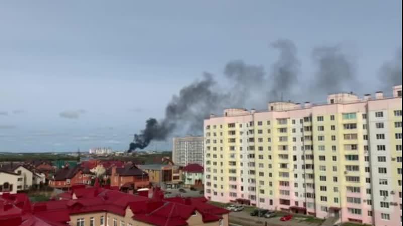 Что то горит на окраине Нефтеюганска