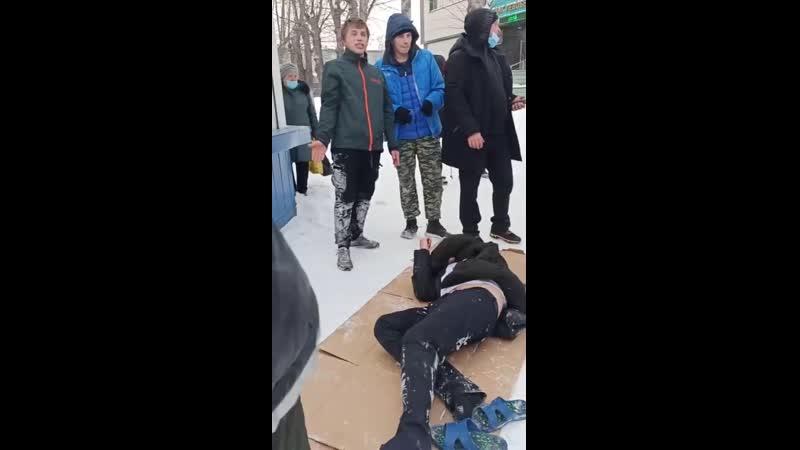 После жестокого избиения в Линево