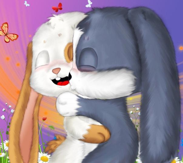 Картинки влюбленные зайцы