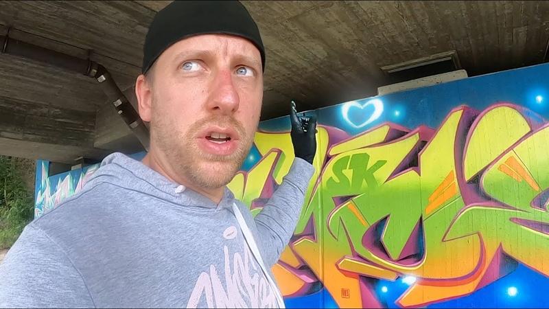 My legal Graffiti Bridge FREESTYLE with glowy effects feat KONT