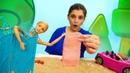 Видео КУКЛЫ НА ПЛЯЖЕ. Барби ПЕРЕОДЕВАЛАСЬ ипотеряла телефон. Видео для девочек про Барби иКена