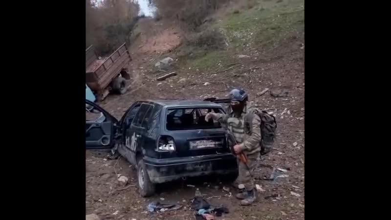Боец ВС Азербайджана передаёт салам жителям Сумгаита