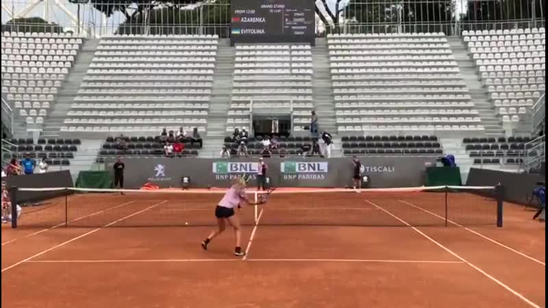 «In the Grand Stand Arena you can find ElinaSvitolina and vika7 😎 Don't miss them 🙌 ibi19