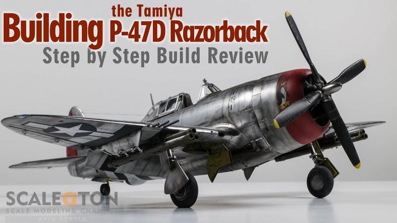 Republic P 47D Thunderbolt Razorback Building the Tamiya P 47D Scale Model Aircraft