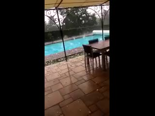 Big time hailstorm in forez (loire), france on july 6th! report @