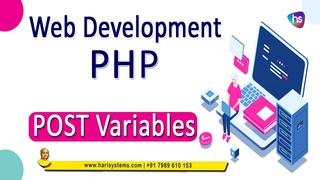 Post variable in php | website design | web development | Sekharmetla | Harisystems