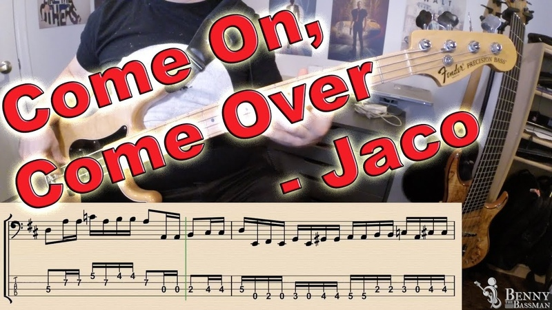 Jaco Pastorius Come On Come Over BASS COVER with notation and tabs