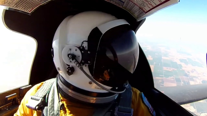 Самолет шпион U2 Вид из кабины на 21000 м 21 км выше земли
