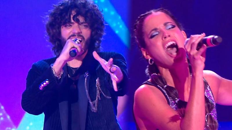 Fede Salles y Cande Molfese cantaron De música ligera en la gala de rock nacional