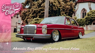 "[Shortcut CarOnly] Bagged Mercedes W114 | Custom Barock Felgen | Sourkrauts ""Sexy Car Clip"""