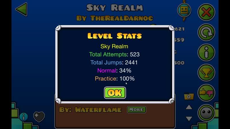 Пытаюсь пройти изи демон Sky Realm